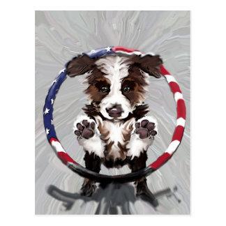 Aussie Puppy Postcard