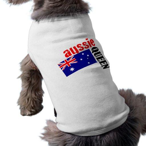 Aussie Queen & Flag Pet Shirt