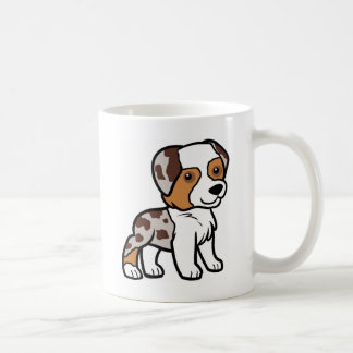 aussie red merle cartoon.png coffee mug