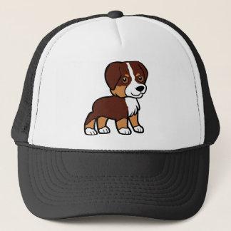 aussie red tri cartoon trucker hat