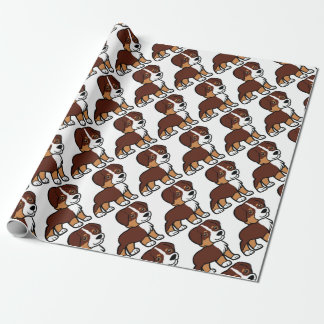aussie red tri cartoon wrapping paper