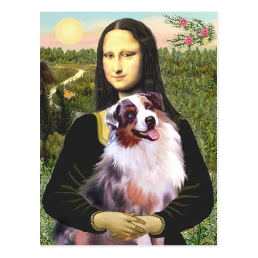 Aussie Shep 1 - Mona Lisa Postcard