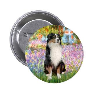 Aussie Shep 2 - Garden Pinback Button