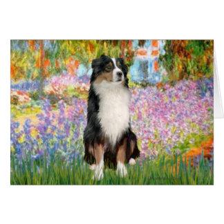 Aussie Shep 2 - Garden Greeting Card