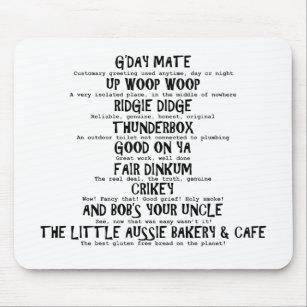 Aussie Slang Mouse Pad