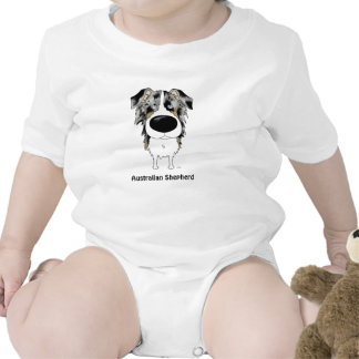 Aussies - Big Nose and Butt Baby Bodysuits
