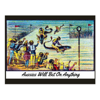 Aussies Will Bet On Anything - Postcard