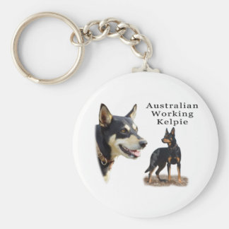 Aust Working Kelpie black and tan Key Ring