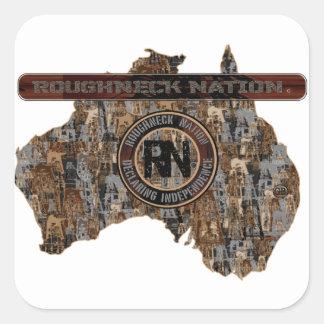 AUSTALIA  Rig Up Camo Square Sticker