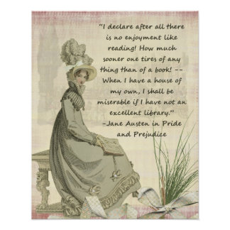 Austen Book Lovers Poster