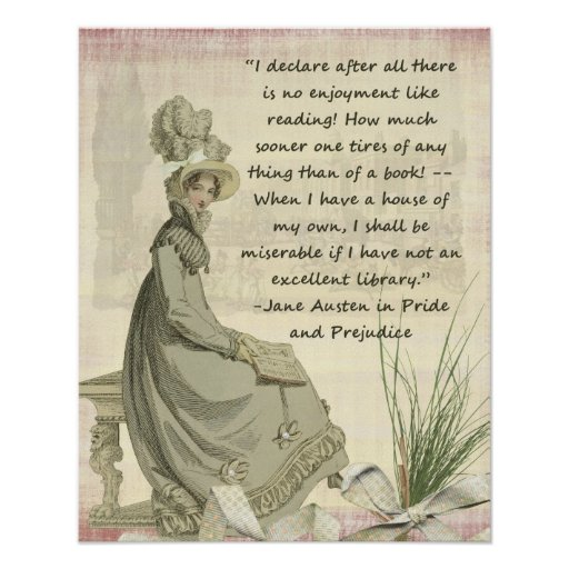 Austen Book Lovers Poster