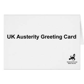 Austerity Greeting Card