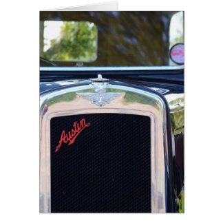 Austin A7 Radiator Grille Greeting Card