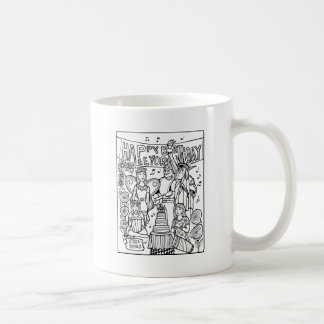 Austin Birthday Line Art Design Coffee Mug