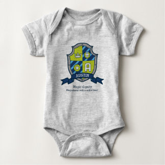 Austin boys A name & meaning knights shield Baby Bodysuit