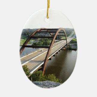 Austin Bridge Ceramic Ornament