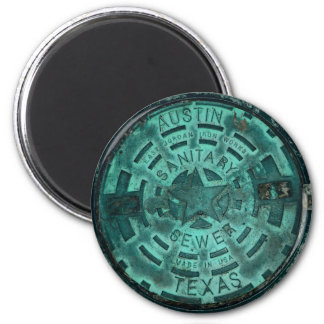 Austin City Texas Manhole Cover Magnet
