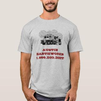 Austin Earthworks - grey - Customi... - Customized T-Shirt