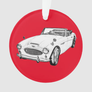 Austin Healey 300 Sports Car Illustration