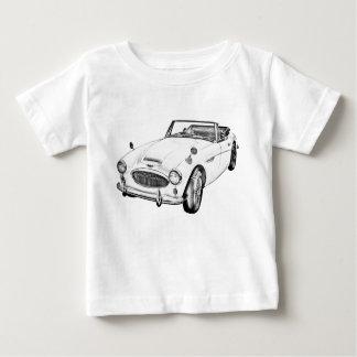 Austin Healey 300 Sports Car Illustration Baby T-Shirt