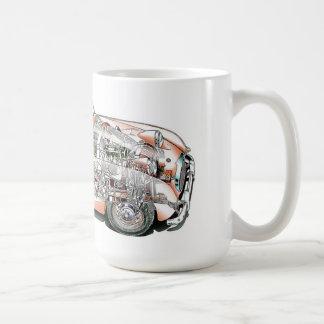 Austin Healey bugeye cutaway drawing Coffee Mug