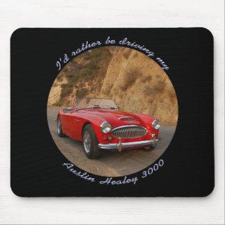 Austin Healey Red Sportscar Mousepad