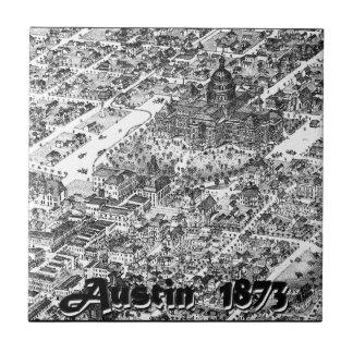 Austin Historic Map 1873 Tile