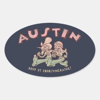 Austin Idiosyncratic Oval Sticker