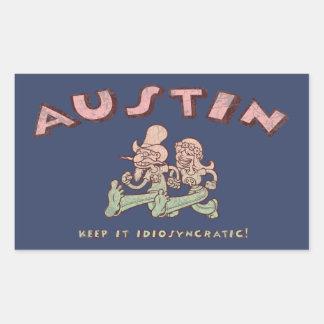 Austin Idiosyncratic Rectangular Sticker