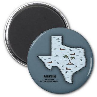 Austin Isle Refrigerator Magnet