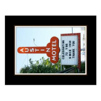 Austin Motel- postcard