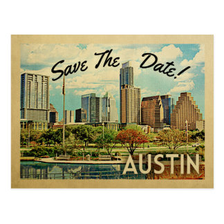 Austin Save The Date Texas Postcard