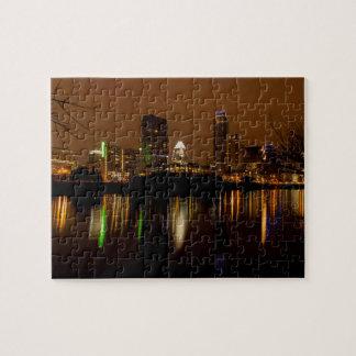 Austin Skylight At Night Jigsaw Puzzle