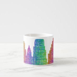 Austin skyline espresso cup