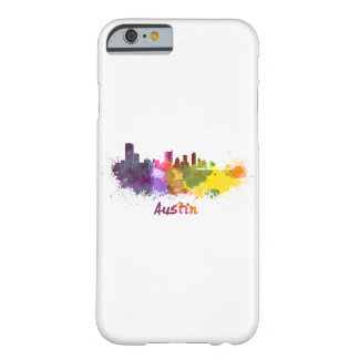 Austin skyline in watercolor barely there iPhone 6 case
