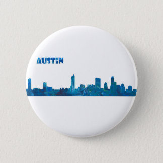 Austin Skyline Silhouette 6 Cm Round Badge