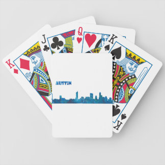 Austin Skyline Silhouette Bicycle Playing Cards