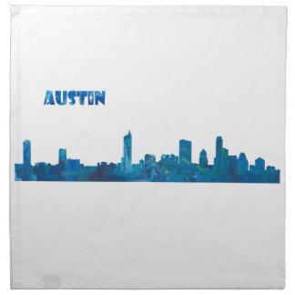 Austin Skyline Silhouette Napkin