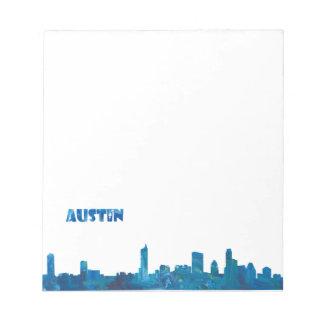 Austin Skyline Silhouette Notepad