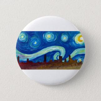 Austin Skyline Silhouette with Starry Night 6 Cm Round Badge