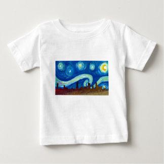 Austin Skyline Silhouette with Starry Night Baby T-Shirt