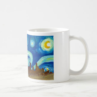 Austin Skyline Silhouette with Starry Night Coffee Mug