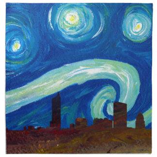 Austin Skyline Silhouette with Starry Night Napkin