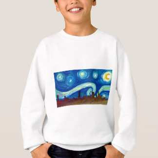 Austin Skyline Silhouette with Starry Night Sweatshirt