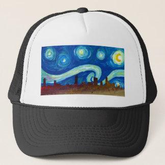 Austin Skyline Silhouette with Starry Night Trucker Hat