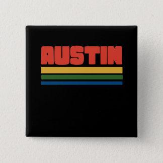 austin texas 15 cm square badge
