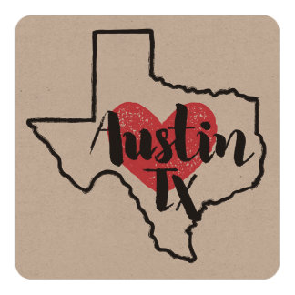 Austin Texas Card or Invitation