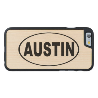 Austin Texas Carved Maple iPhone 6 Case
