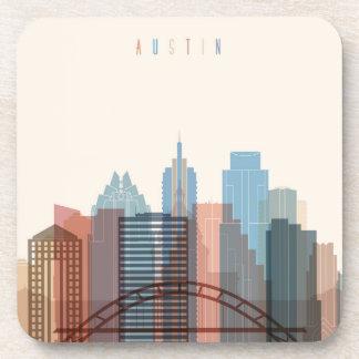 Austin, Texas | City Skyline Beverage Coasters