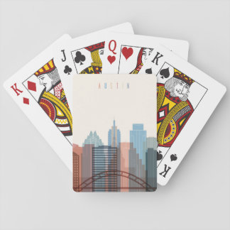 Austin, Texas | City Skyline Playing Cards